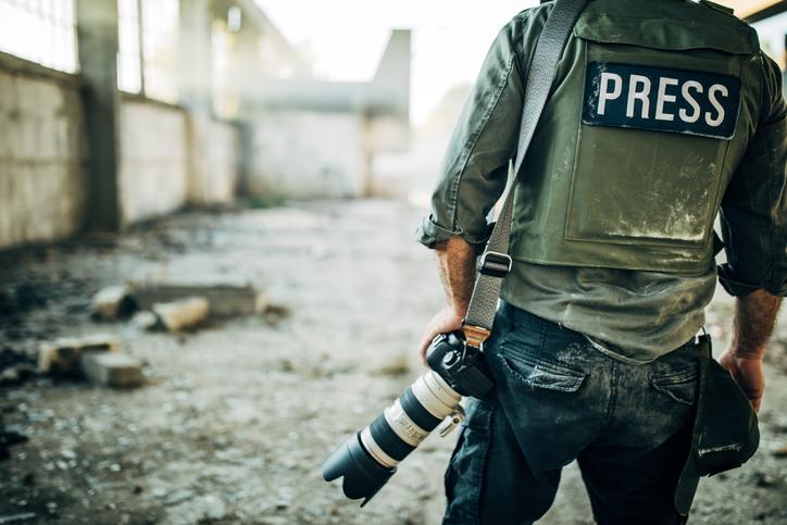 repórter de guerra