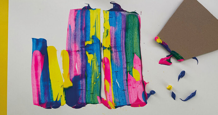 brincar com as cores